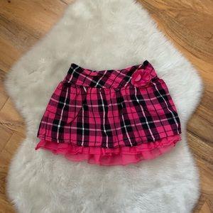 Faded glory girls pink plaid skirt size 6/6x